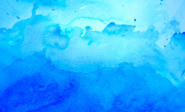 Blue watercolor background stock photo