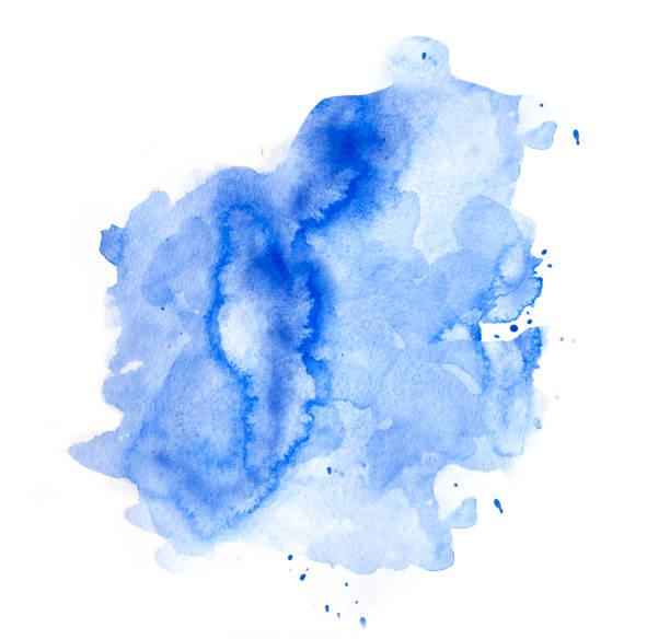 fond aquarelle bleu - aquarelle sur papier photos et images de collection