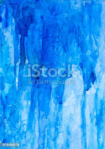 istock Blue watercolor background 919494278