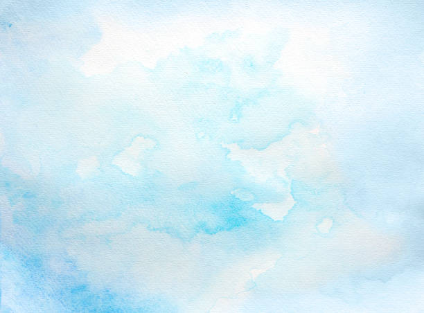 Blue watercolor background - foto stock
