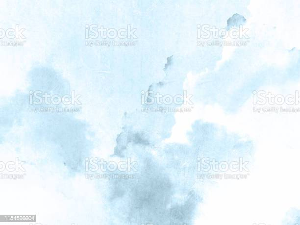 Photo of Blue watercolor background texture in light color