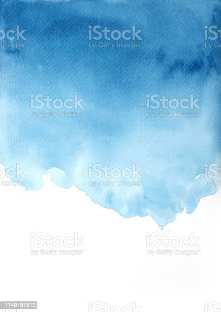 Photo of Blue watercolor background, textures backgrounds
