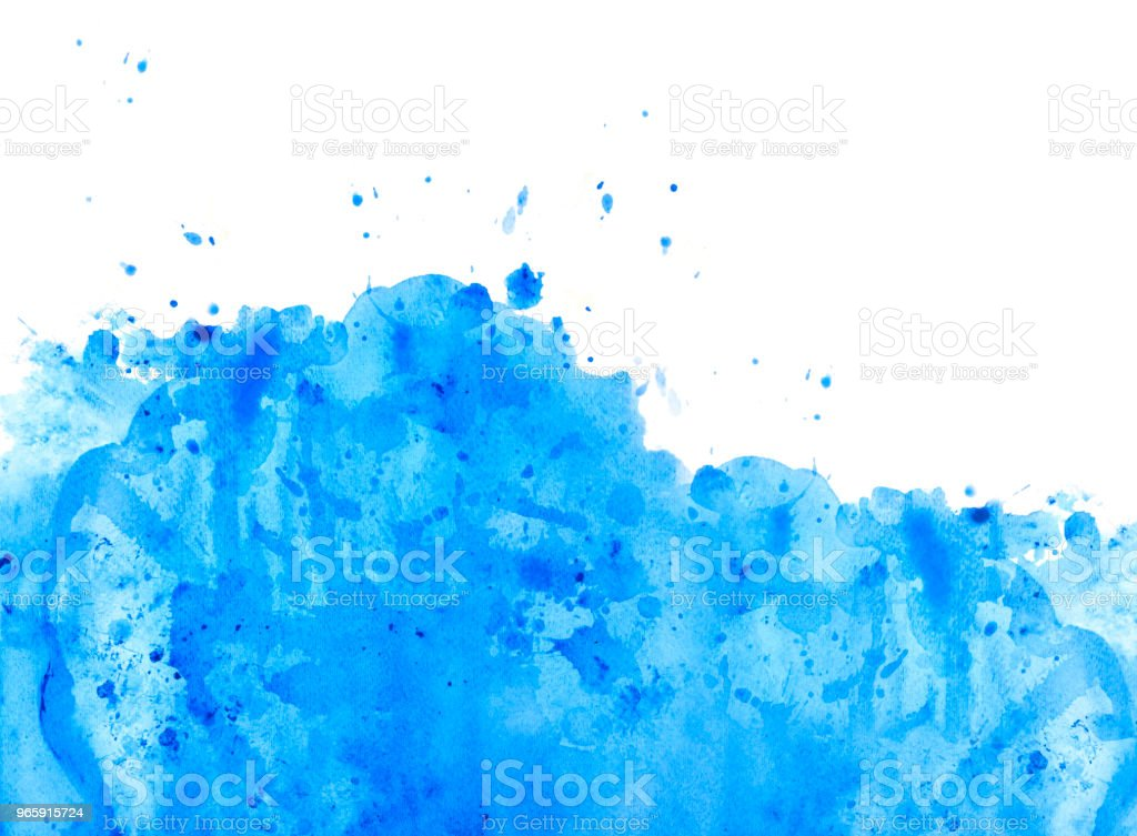Blue watercolor background with splashes - Royalty-free Abstract Stock Photo