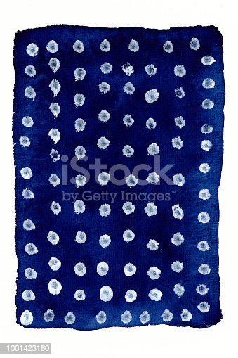 852187968 istock photo Blue WaterColor Background with white dots 1001423160