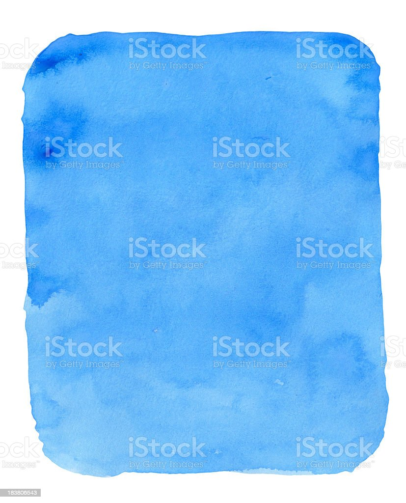 Blue Watercolor Bagde royalty-free stock photo
