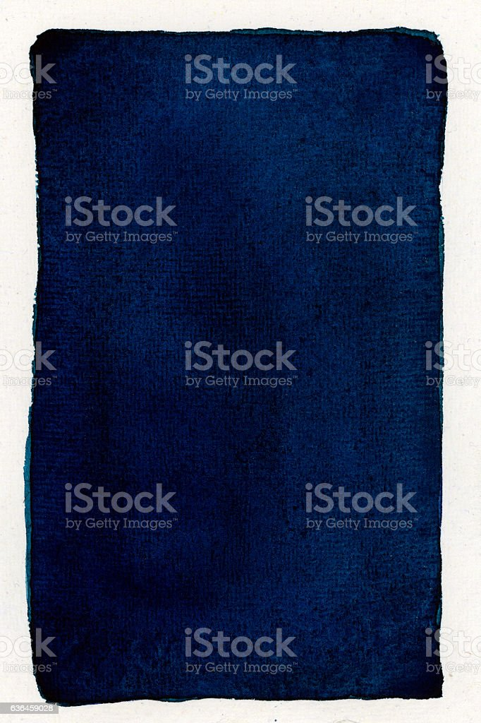blue watercolor on white isolated background stock photo