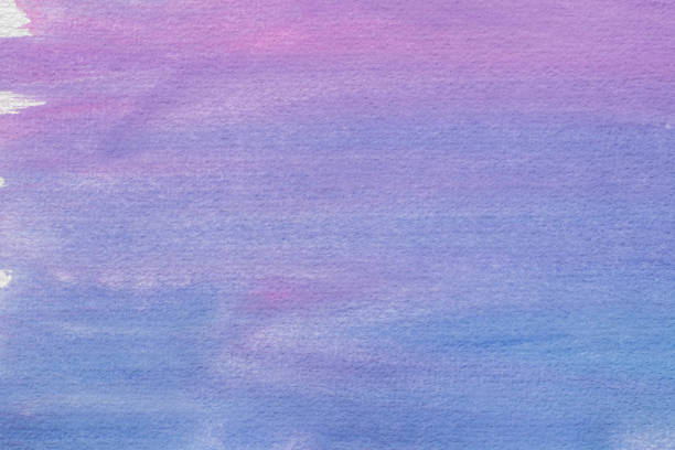 blue watercolor painted on paper background texture - purple watercolor stock photos and pictures