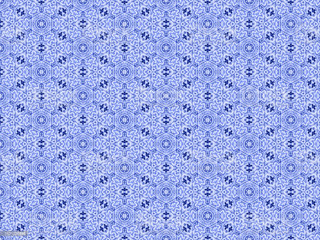 Blue Watercolor Painted Pattern stock photo