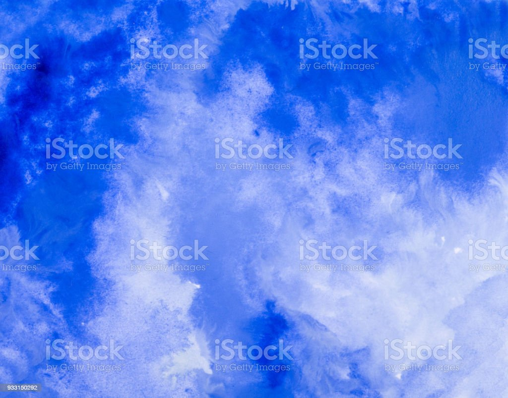 blue watercolor stock photo