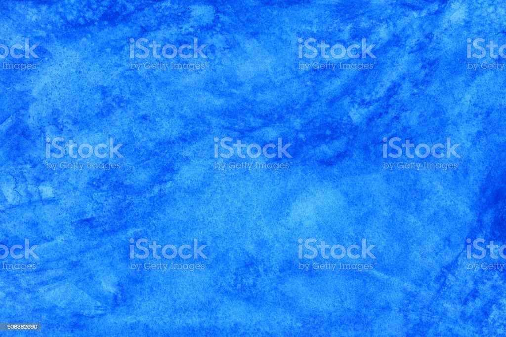 Blue watercolor scanned background stock photo