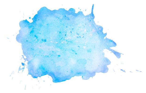 Blauer Aquarellfleck – Foto