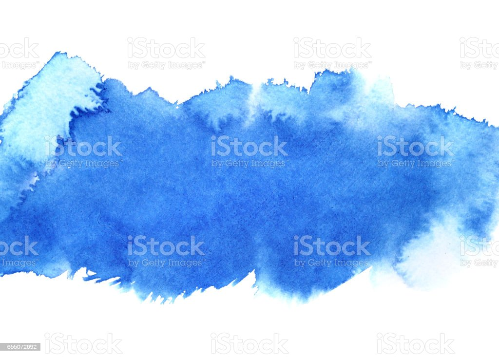 Blue watercolour stripe stock photo