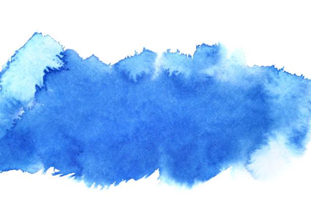 Blue watercolour stripe stock photo