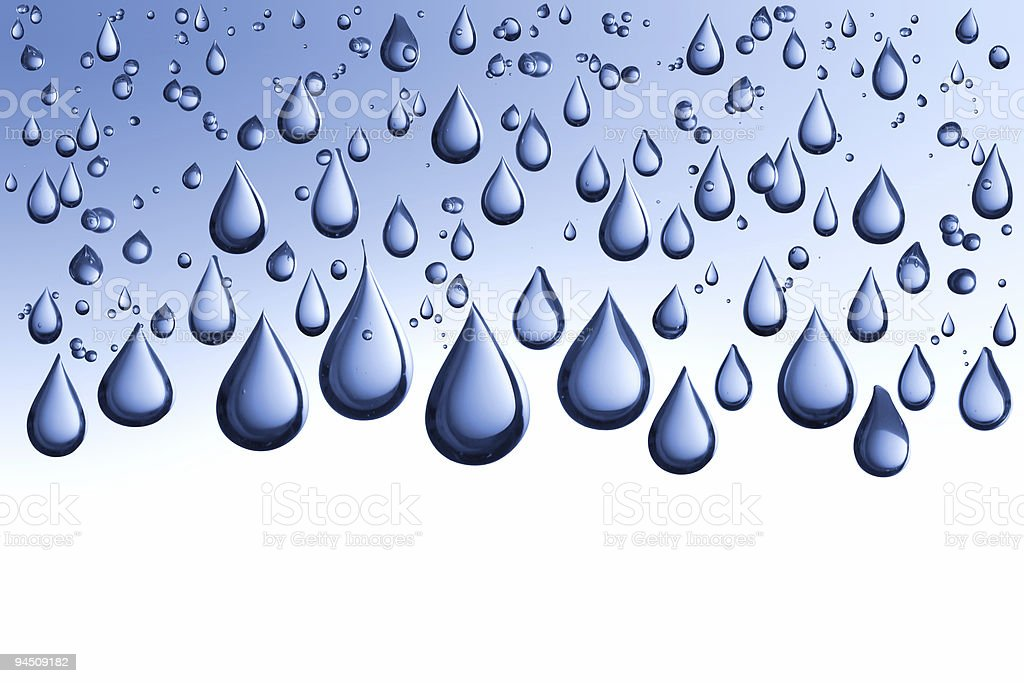 Blue waterdrops isolated on background royalty-free stock photo
