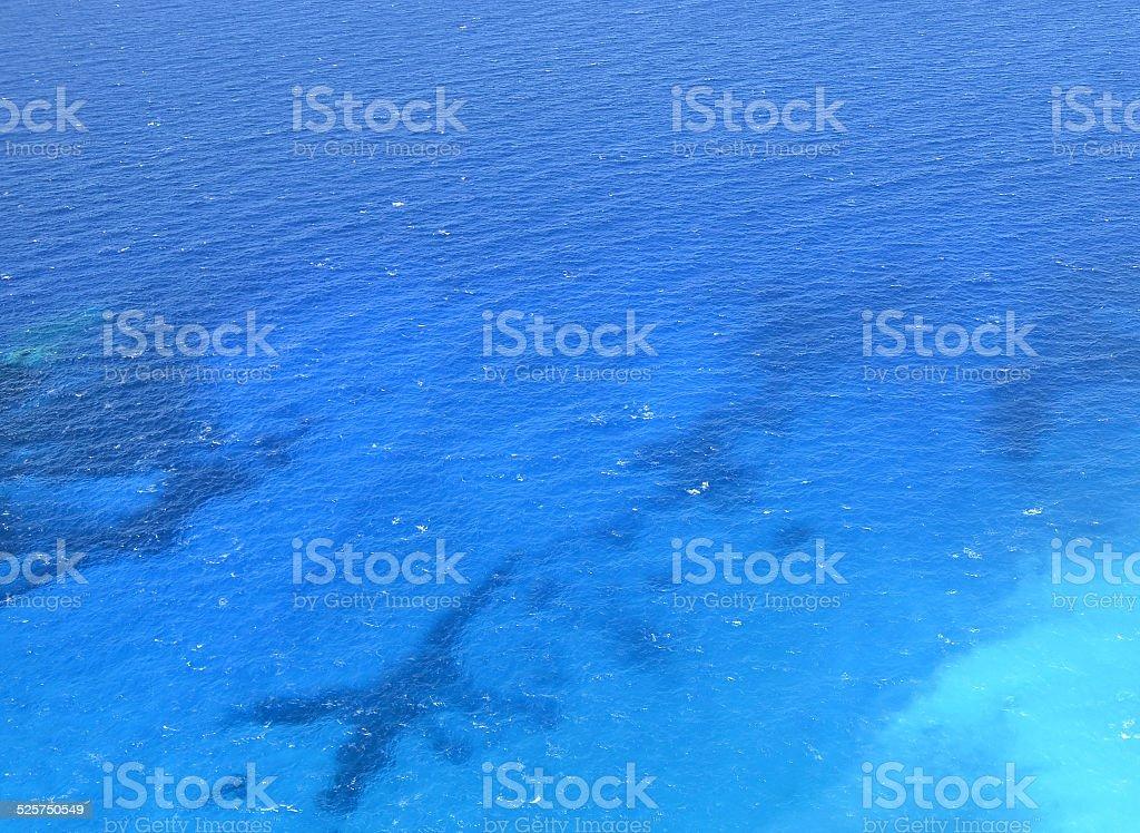Blue waters of Ionian sea near Zakynthos island, Greece stock photo