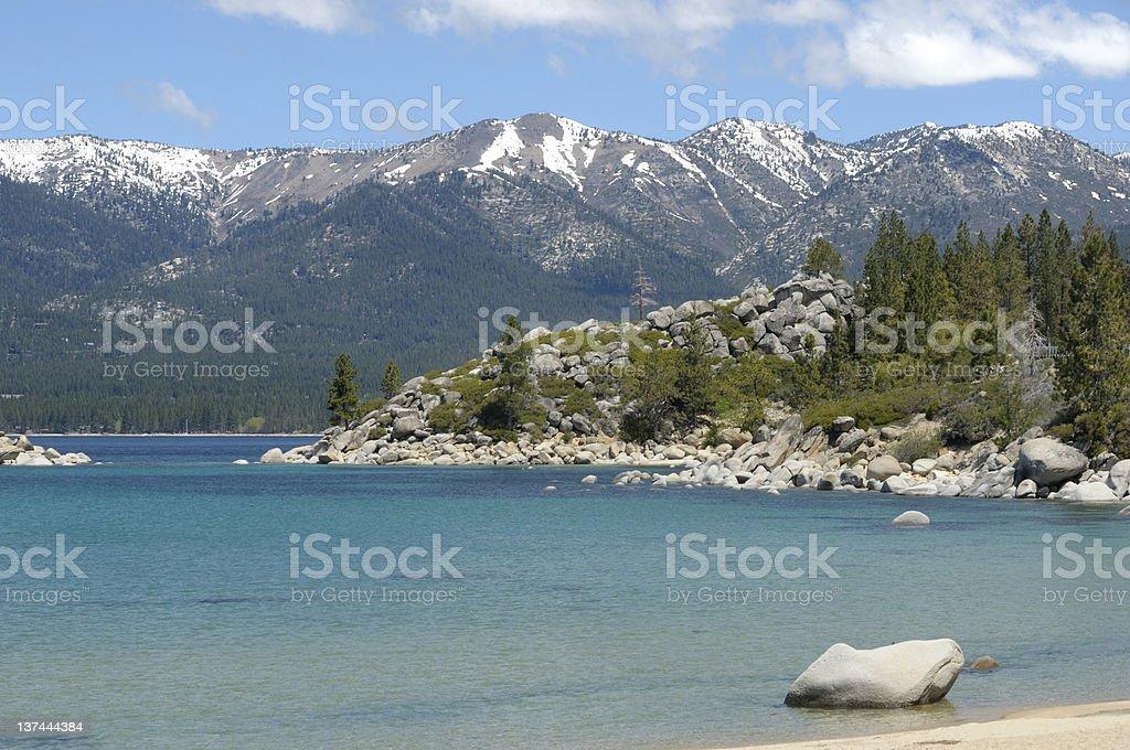 Blue Waters of Lake Tahoe stock photo