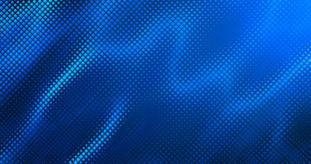 Blue Wave Pattern - Abstract Background - Modern, Minimalism, Design stock photo