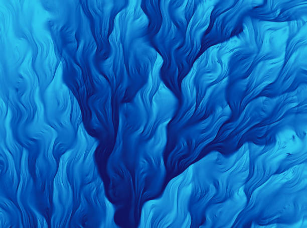 Blue Wave Pattern Abstract Water Sea Life Plant Background Fractal Fine Art Blue Wave Pattern Abstract Water Sea Life Plant Background Fractal Fine Art Glitch Effect Leaf Pattern Close Up Soft Focus Retro Style Distorted Image Pastel Floral Pattern Summer Background Wave Striped Pretty Texture Tropical Climate Pretty Tender Ethereal Computer Graphic Art spring flowing water stock pictures, royalty-free photos & images