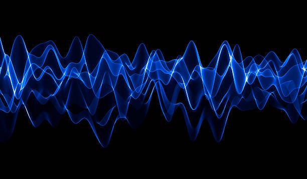 blue wave - frequenzen stock-fotos und bilder