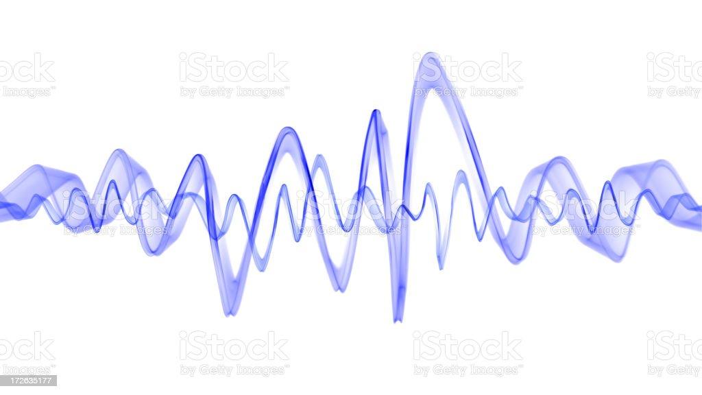 Blue Waveform stock photo