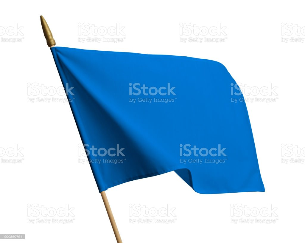 Blue Waving Flag stock photo