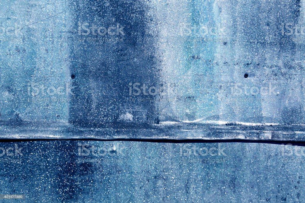 Blue weathered metal sheet texture. photo libre de droits