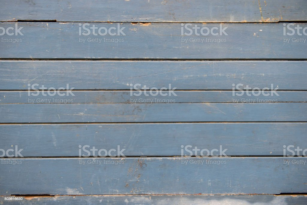 Blue weathered wooden wall texture stock photo