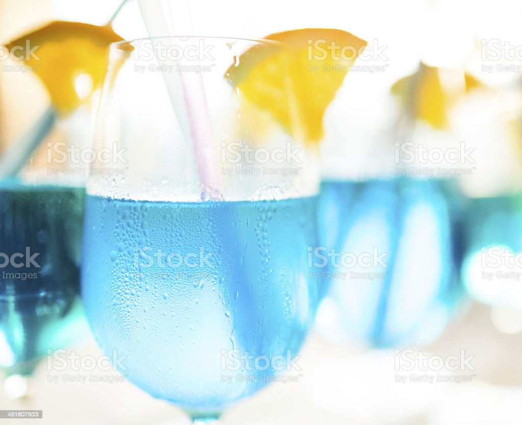 Blue welcoming cocktails royalty-free stock photo