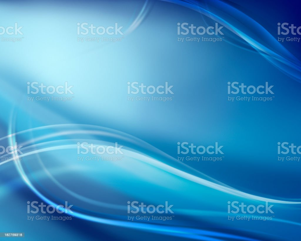 Blue Whispy Flow royalty-free stock photo