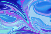 Blue white and pink swirly background art
