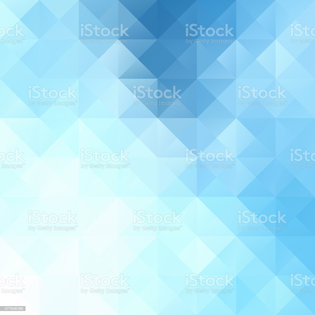 Blue White Bright Mosaic Background, Creative Design Templates stock photo