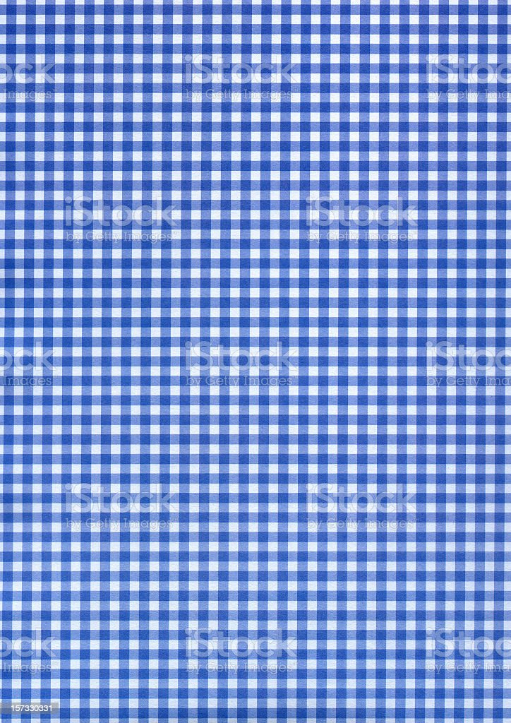 Blue & white checkered pattern stock photo