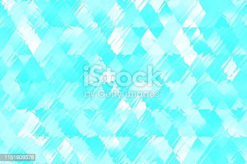 Blue White Diamond Wind Seamless Pattern Winter Spring Rhomb Distorted Geometric Texture Minimal Background Color Image Computer Graphic Fractal Fine Art