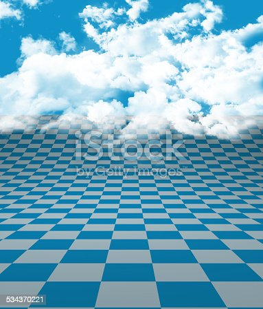 istock Blue White Floor and Clouds 534370221