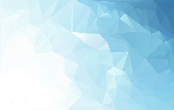 blue white light polygonal mosaic arrière-plan, business design templates - triangle forme bidimensionnelle photos et images de collection