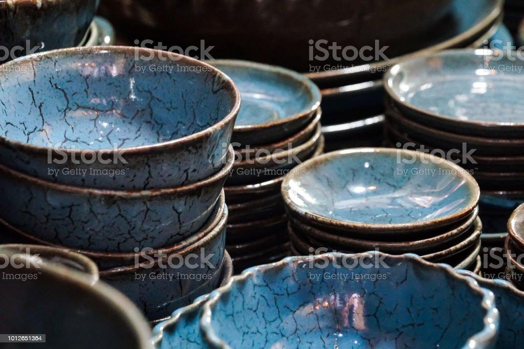 Blau Weisse Marmor Muster Keramik Porzellan Geschirr Teller Gerichte Stockfoto Und Mehr Bilder Von Alt Istock