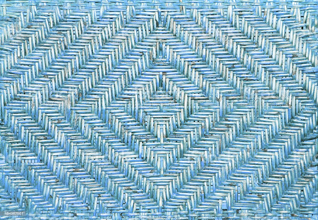 Blue wicker chair pattern background. royalty-free stock photo