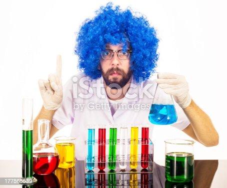 istock Blue Wig Mad Scientist 177565539