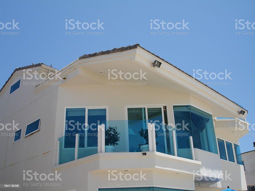 Blue Window Beachhouse royalty-free stock photo