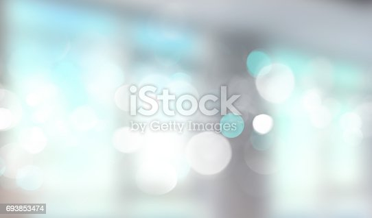 istock Blue window blurred banner. 693853474