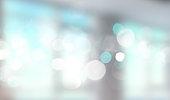 istock Blue window blurred banner. 693853474