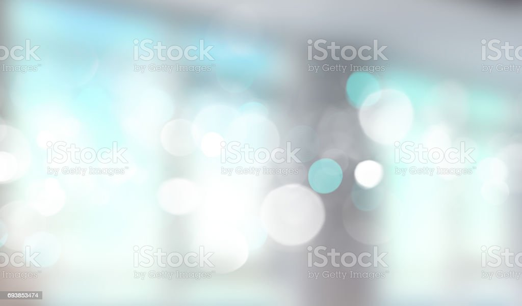 Blue window blurred banner. stock photo
