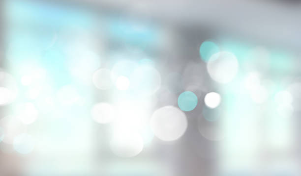 Blue window blurred banner. stock photo
