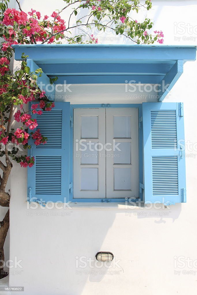 blue window royalty-free stock photo