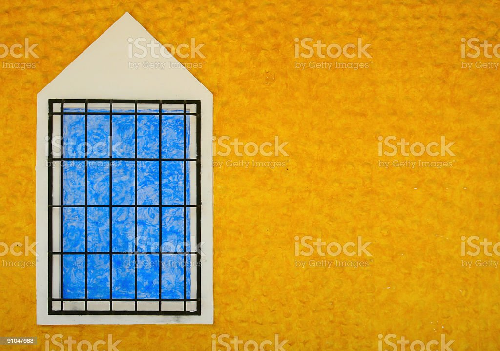 Blue window royalty-free stock photo