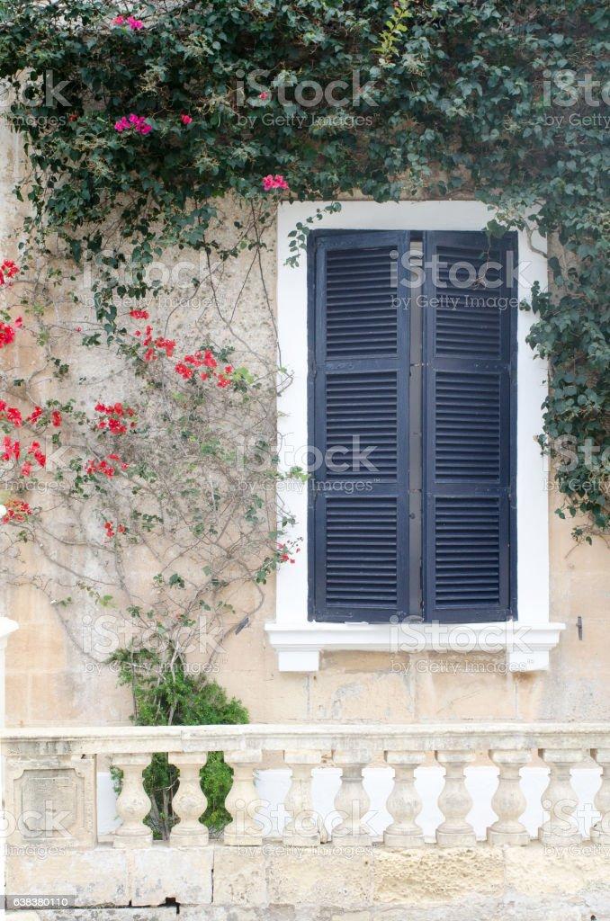 Blue Window Shuttered - Stock Foto e Imagen de Stock | iStock