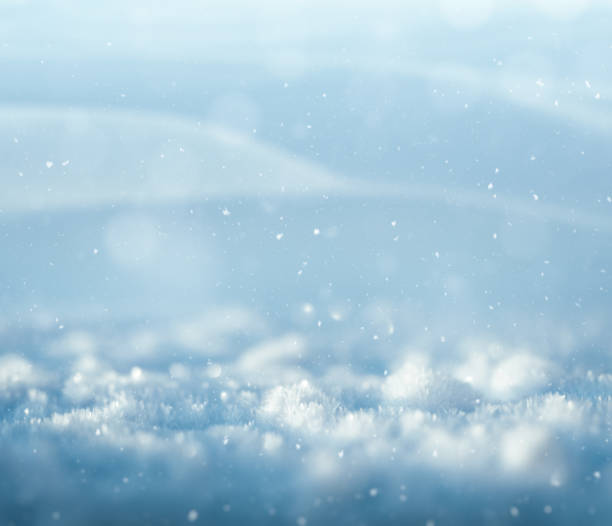 blue winter background - snow pile stock photos and pictures