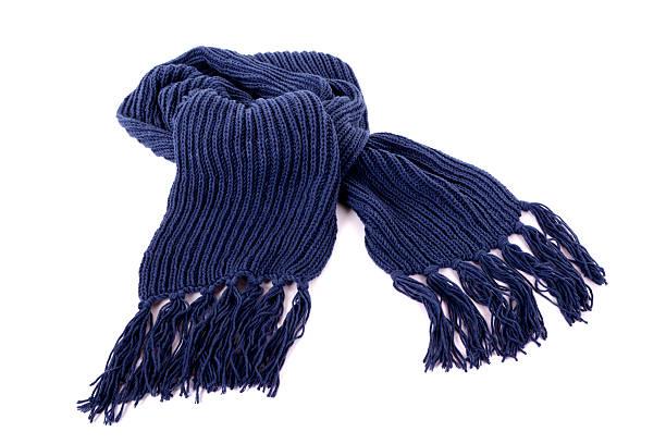 blaue winter schal - wollschal stock-fotos und bilder