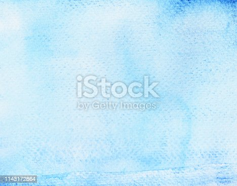 istock Blue with green stains flow on white surface 1143172864