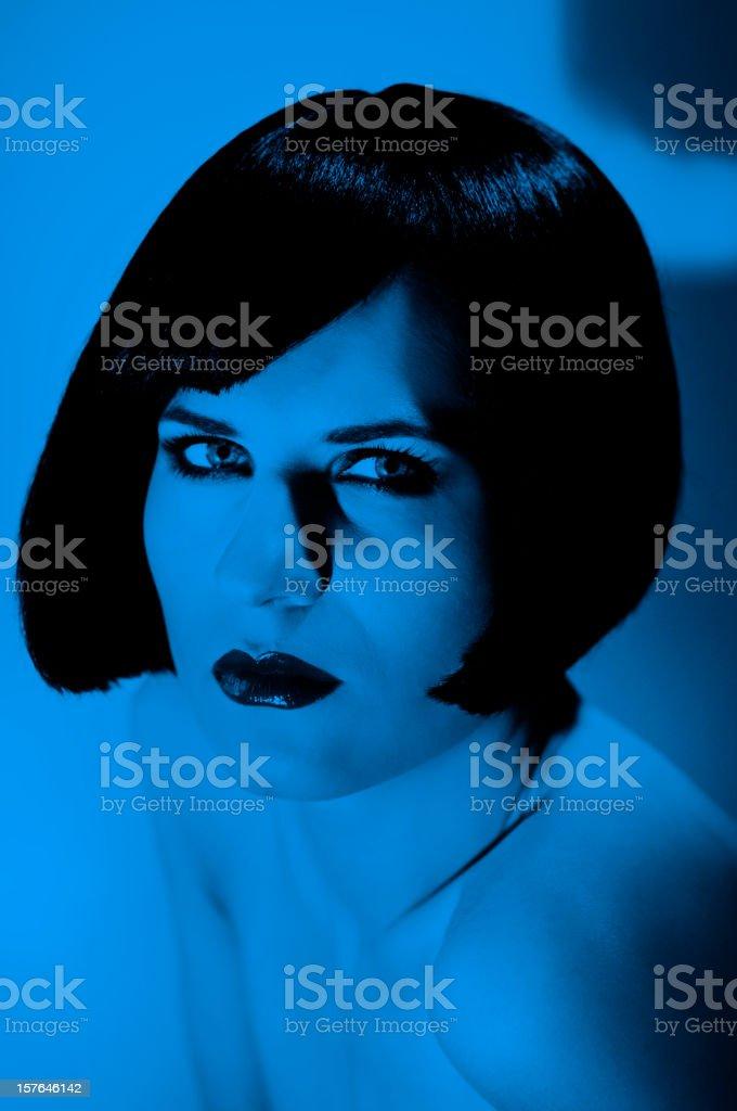 blue woman stock photo
